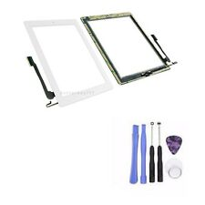 White Ipad 4 Touch Glass Screen Digitizer Home Button + Flex Assembly AdhesiveTO