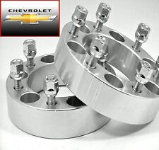 2 Pc CHEVY TAHOE BILLET WHEEL SPACER ADAPTER 2.00 Inch With Lug Nuts # 6550E1415