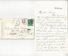 1/1873 Letter from Henry W Miller to Commander George Dewey USN (Hero of Manila)