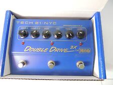 TECH 21 DOUBLE DRIVE 3X MOD PROGRAMMABLE OVERDRIVE EFFECTS PEDAL w/BOX & MANUAL