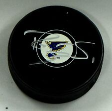 BRIAN ELLIOTT Signed ST LOUIS BLUES HOCKEY PUCK AUTOGRAPH! 1004935