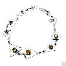 Fein Citrin Silber gelbes Armband Großverkauf l-7.5in de