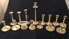 Vintage Lot of 15 All Baldwin Brass Candlestick Candle Holders Wedding Decor