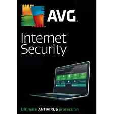AVG Internet Security 2017 For 5 PC'S 12 Month License 5 Users 2017