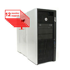 HP Z820 Multi Screen 12-Monitor Computer 12-Core/ 24GB / 1TB HDD/ NVS 420/ Win10