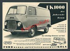 or. Reklame Auto Transporter FK1000 Oldtimer Technik Bus Ford Werke AG Köln 1954