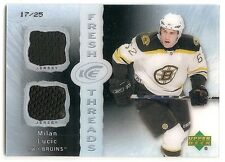 07/08 UPPER DECK ICE FRESH THREADS BLACK JERSEY #FTML Milan Lucic #17/25