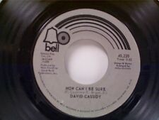 """DAVID CASSIDY """"HOW CAN I BE SURE / RICKY'S TUNE"""" 45"""