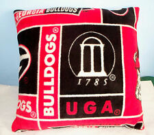 NEW GEORGIA BULLDOGS FLEECE PILLOW RED BLACK SEC FOOTBALL MADE IN THE USA