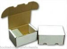 200 Cardboard Storage Boxes - Hold 400 Cards in each Box - 4 bundles