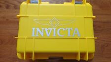 Invicta 8-Slot Dive Case Collector Box Yellow Holds 8 Large Watches
