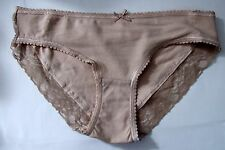 Chainstore Sze 8 Brazilian knickers panties briefs stretchy cotton rich natural