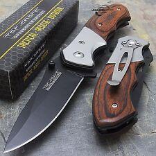 """7"""" TAC FORCE PAKKAWOOD SPRING ASSISTED TACTICAL FOLDING KNIFE Blade Pocket Open"""