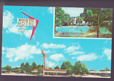 ORANGEBURG SOUTH CAROLINA SC Edisto Motel 1950s Car 2 Views Pool Postcard