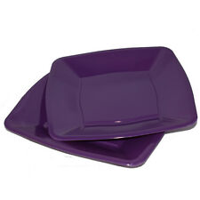"30 x Purple Square Side Plates Disposable Plastic 7""/18cm - Party Supplies"