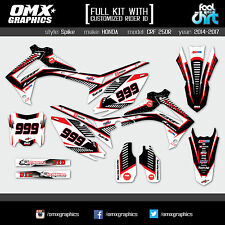 Honda CRF 250 R stickers graphics decals kit 2014 2015 2016 2017 Spike