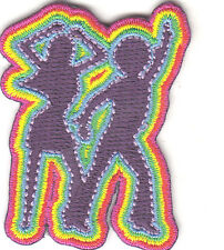 "DANCERS PATCH - 70'S & PEACE - ""GROOVY"" - ""FUNKY""- Iron On Embroidered Applique"