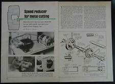 Bandsaw Speed Reducer for Metal Cutting 30-to-1 How-To build PLANS