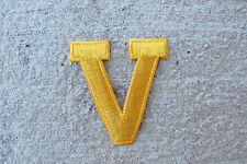 "1-3/4"" Yellow Letter ""V"" Embroidery Iron On Applique Patch"