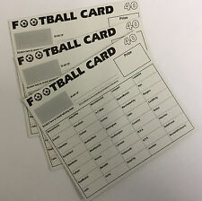 25 x 40 TEAM FOOTBALL FUNDRAISING SCRATCH CARDS GREAT QUALITY