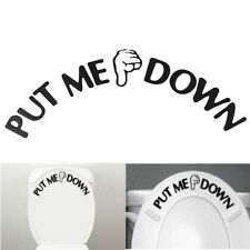 Removable Toilet Seat Art Wall Quote Sticker Bathroom Decals Vinyl Decor Black