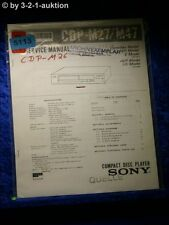 Sony Service Manual CDP M26 CD Player (#5113)