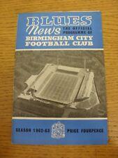 09/03/1963 Birmingham City v Wolverhampton Wanderers (puntuación señaló en el interior). Trus
