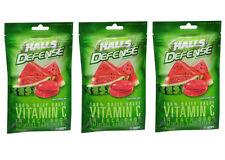 3 PACK Halls Defense Vitamin C Supplement Drops, Watermelon 30 ct (312546631588)