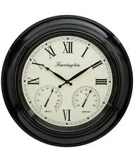 18 INCH EXTRA LARGE GIANT SIZE ROUND BLACK FRAME HOTEL SCHOOL OFFICE WALL CLOCK