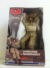 Gi Joe Hasbro 1:6 World War II Airborne At Normandy With Working Parachute.