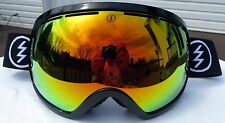 $180 Electric EG2 Mens Winter Ski Black Goggles Red Orange Solex Mirror Spy Lens