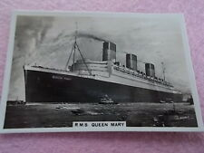 HMS QUEEN MARY 1936 Real photograph Senior Service Cigarette Card No 21