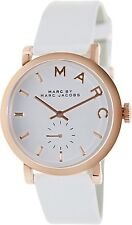 Marc by Marc Jacobs Women's MBM1283 White Leather Swiss Quartz Watch