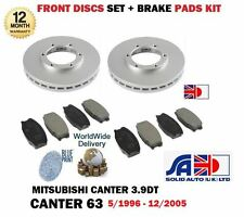 FOR MITSUBISHI CANTER 63 3.9TD FE649 1996-2005 FRONT BRAKE DISCS SET + PADS KIT
