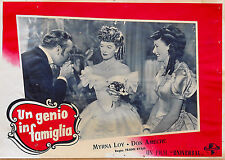 FOTOBUSTA 4, UN GENIO IN FAMIGLIA So Goes My Love MIRNA LOY, DON AMECHE POSTER