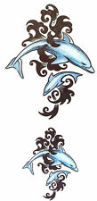 2 TRIBAL DOLPHINS TEMPORARY TATTOO 145mm X 70mm  AB0503