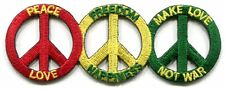 PEACE LOVE FREEDOM HAPPINESS make love not war PATCH **FREE SHIPPING** -c p3461