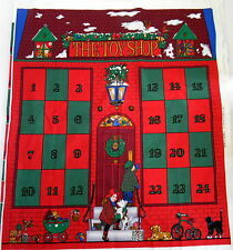 Advent Calendar Toy Shop Fabric Panel Christmas Rose and Hubble