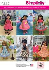 SIMPLICITY SEWING PATTERN 18 INCH DOLL CLOTHES  1220