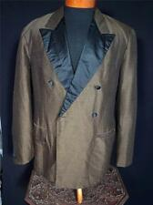 VINTAGE EARLY 1960'S BROWN SILK & WOOL HAND TAILORED TUXEDO JACKET SIZE 40-41