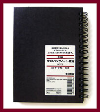 muji black kraft paper cover plain A6 notebook 80 sheets = 160 pages