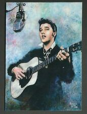 ACEO 2001 ELVIS PRESLEY King of R-N-R Art Sketch Card 5/18 Limited Artist Signed