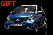 Car Model Norev Mercedes-Benz Smart fortwo Cabrio 1:18 (Blue/Silver) + GIFT!