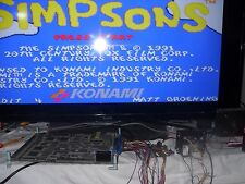"The Simpsons ""Konami 1991"" Jamma PCB Arcade Game US 2 Player Version Authentic"