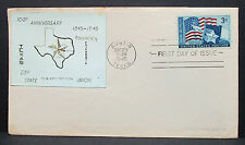 Lone Star Austin Texas First Day Cover Patriotic Stamp US Ersttagsbrief (H-6300