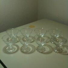 "Vintage 1950s Anchor Hocking Boopie Candlewick 3.5"" Champagne Glasses Set Of 8"