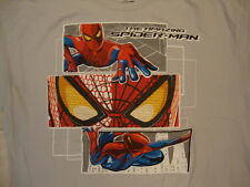 The Amazing Spider-Man Spiderman Comic Book Movie Hero Artwork Gray T Shirt XL