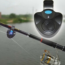 Electronic LED Light Fishing Alert Bite Sound Alarm Bell Clip On Fishing Rod