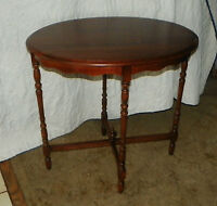 Mahogany Oval Entry Table, / Parlor Table / Sofa Table / Lamp Table  (T345)