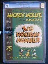 Mickey Mouse Magazine Vol 2 #3 WALT DISNEY 1936 - CGC 7.0 - Christmas Issue!!!